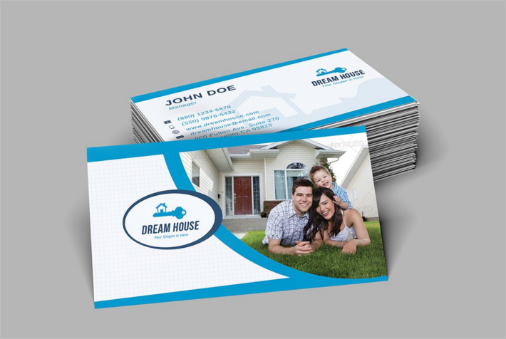Construction Company Business Card Design Template