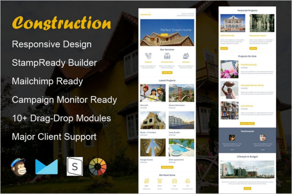 Construction Email Design Template