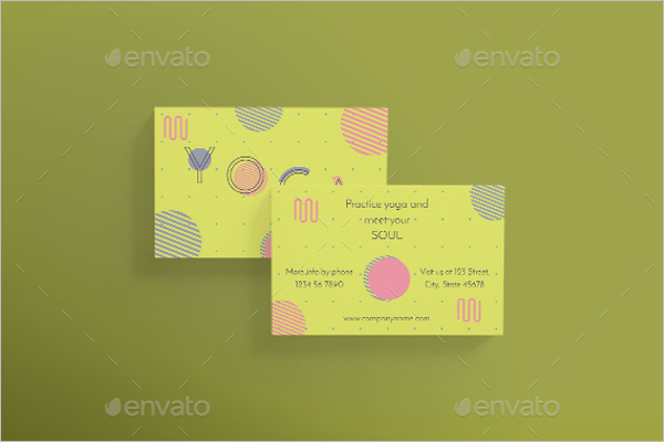 30 sample yoga business card templates free design ideas