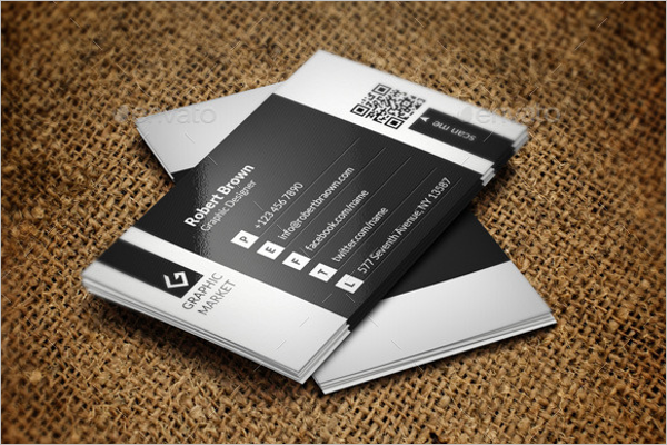 Corporate Black & White Business Card