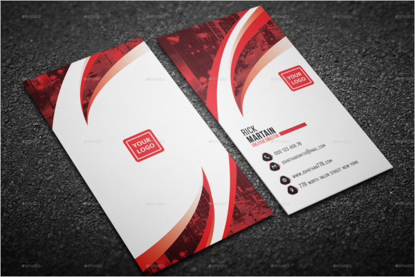 Corporate Business Card Abstract Design