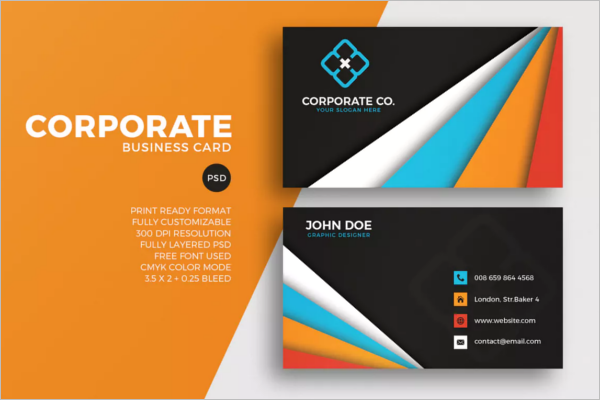 Corporate Business Card Best Design