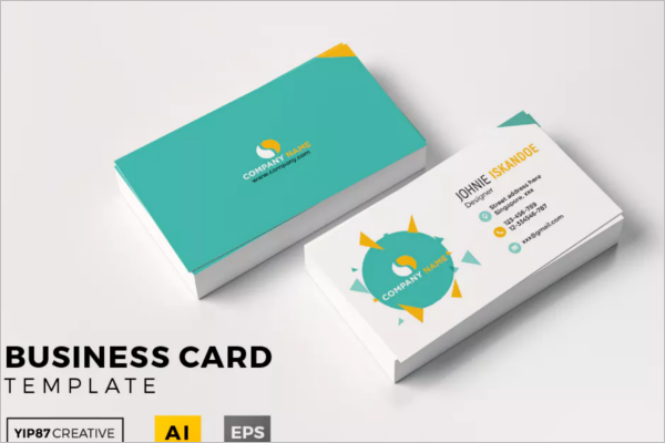 Corporate Business Card Clean Design