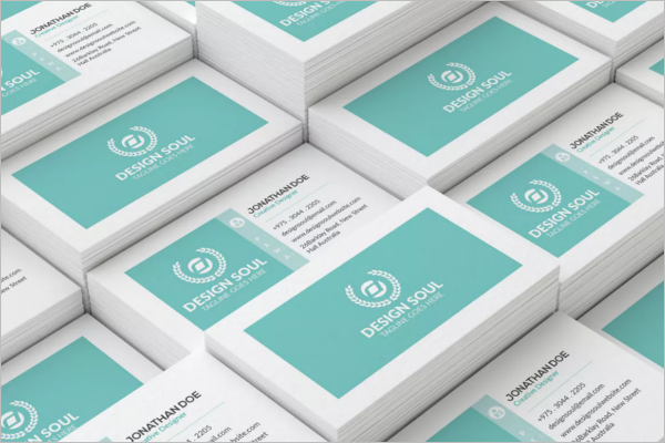 Corporate Business Card Design PSD