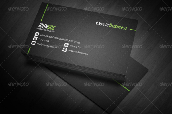 Corporate Business Card Pattern Design