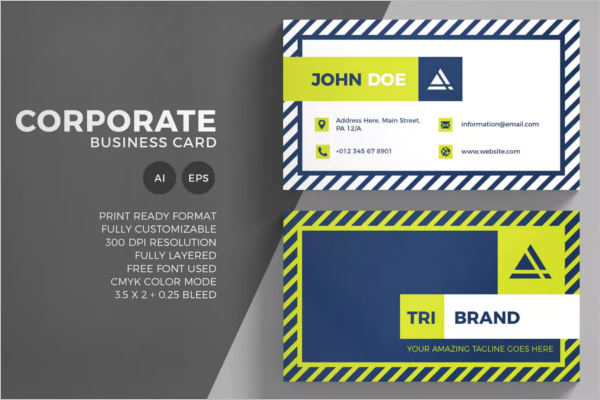 Corporate Business Card Vector Design