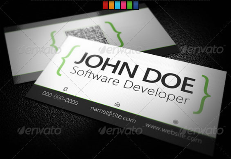 Corporate Developer Business Card Design