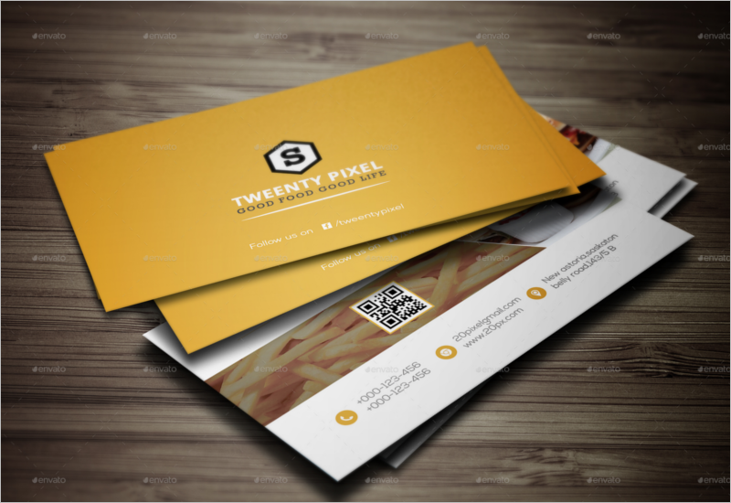 Corporate Restaurant Business Card Template