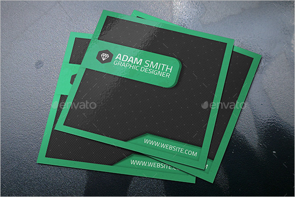 Corporate Square Business Card Template