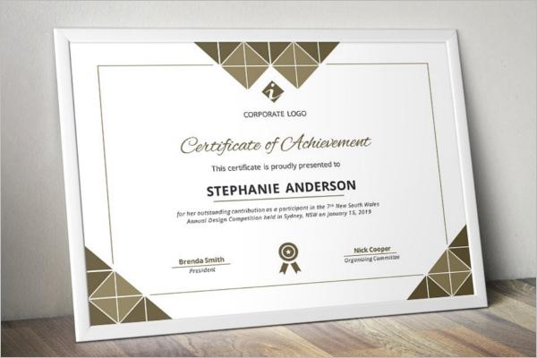 Corporate Word certificate Template