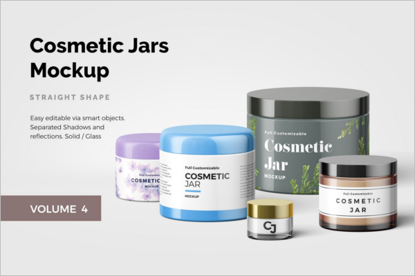 Cosmatic Jar Mockup