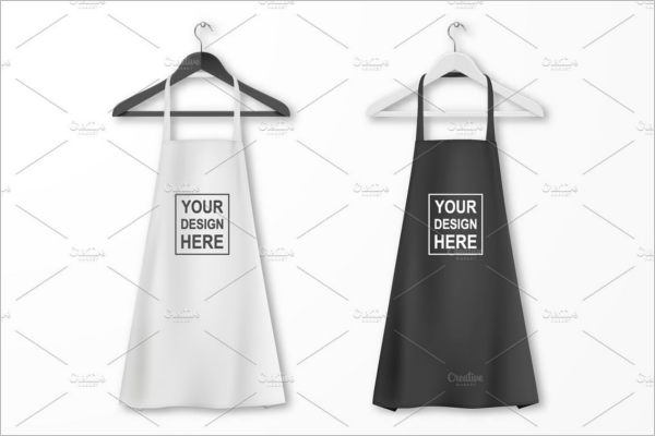 Cotton kitchen Apron Mockup Set