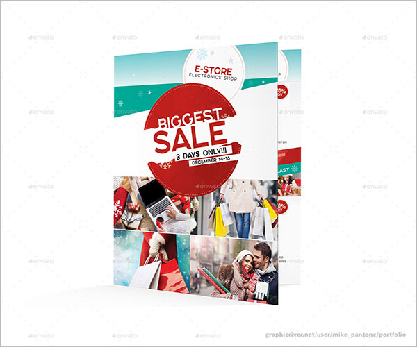 Creative Christmas Brochure Sale