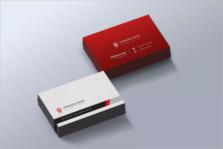 Creative Construction Business Card Template