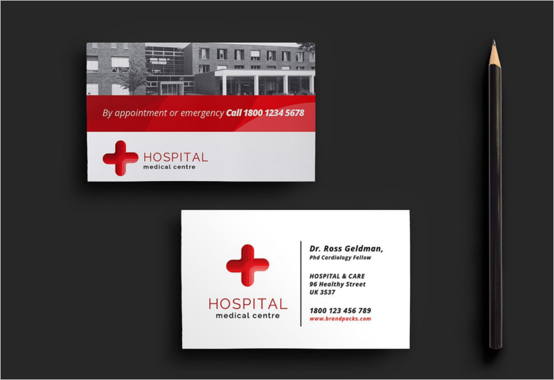 Creative Hospital Business Card Template