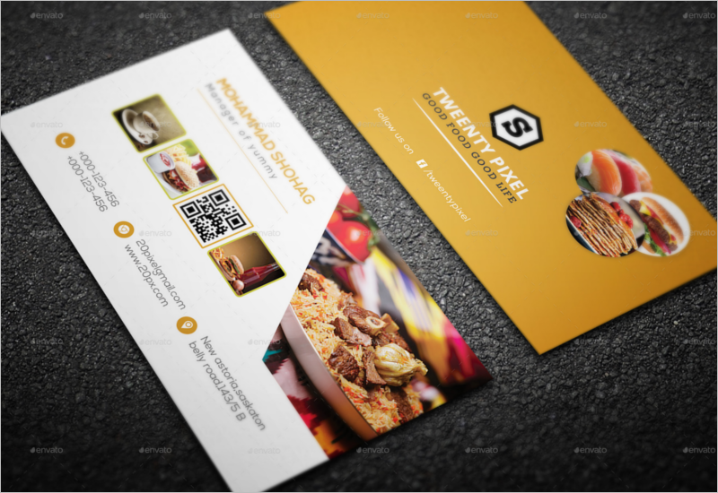 45 Restaurant Business Cards Templates Psd Designs