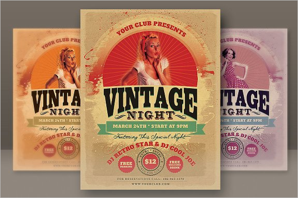 Creative Retro Flyer Template