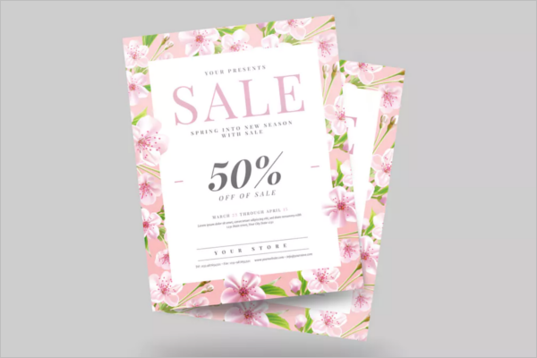 Creative Spring Sale Flyer Template