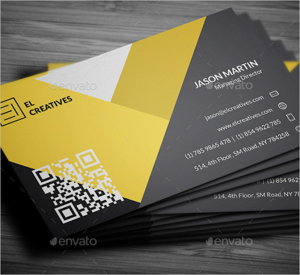 Creative Yellow Business Card Template