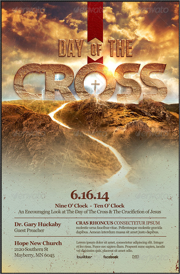 Cross Day Flyer Template