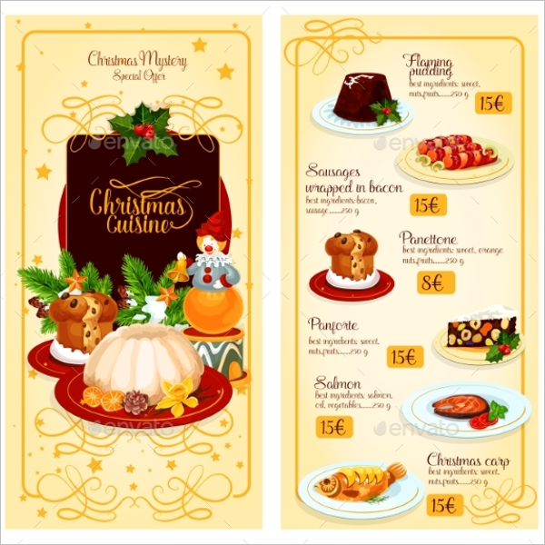 Cuisine Restaurant Menu Design