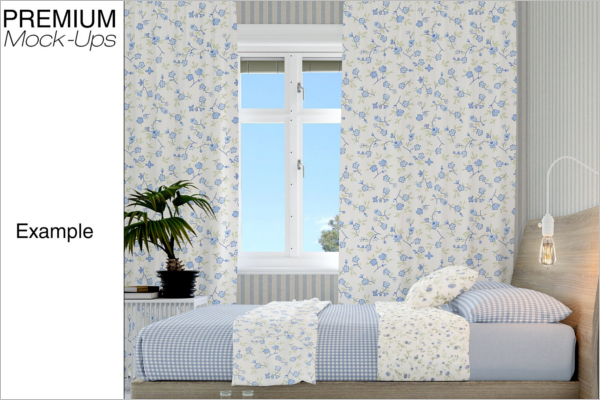 Curtain Mockup Photoshop Design
