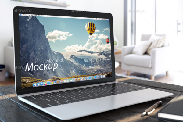 Custamizabe Macbook Mockup