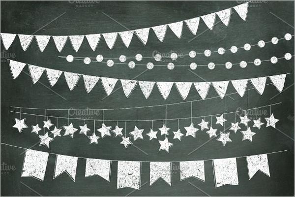 Custom Pennant Banner Template