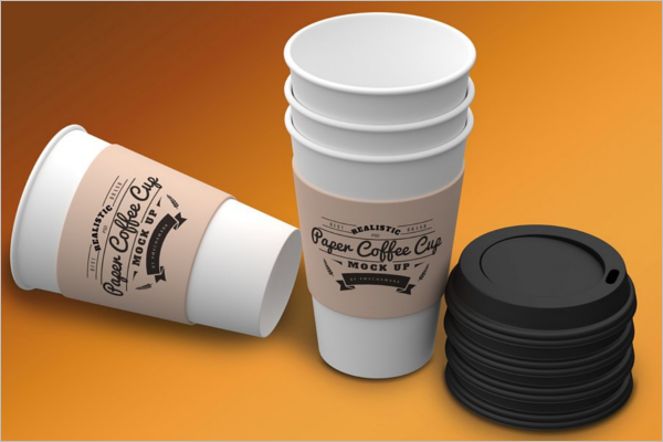 Customizable Coffee Cup Mockup Design