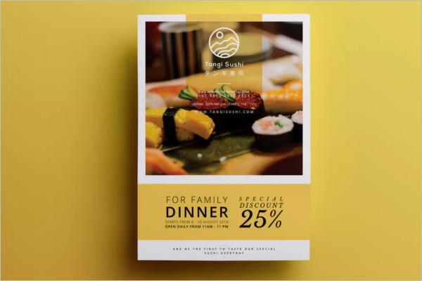 Customizable Restaurant Flyer Design