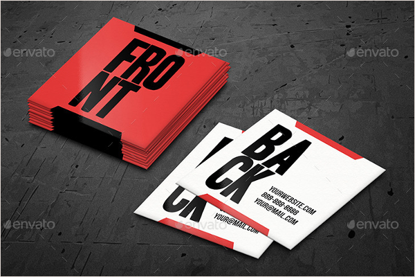 Customizable Square Business Card Template