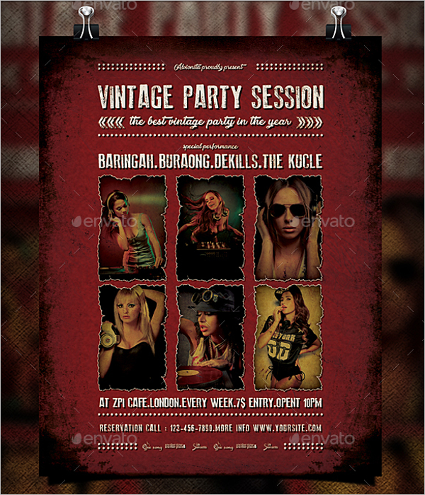 Customizable Vintage Flyer Template