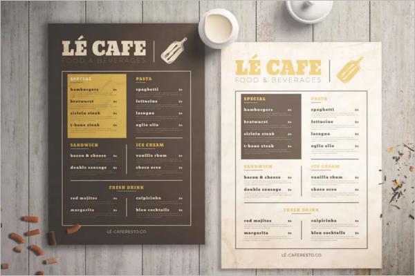 Customized Restaurant Menu Template