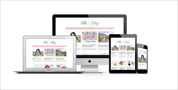 Cute Blogger Design Template