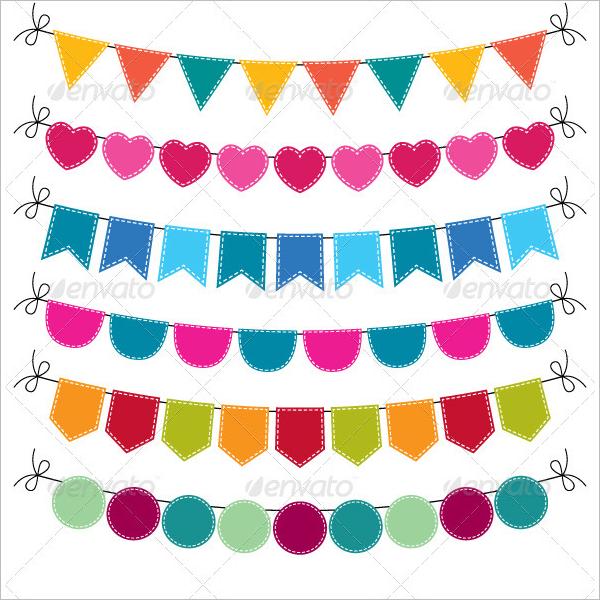 Cute Pennant Banner Design