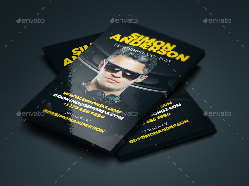 DJ Business Card PSD Design