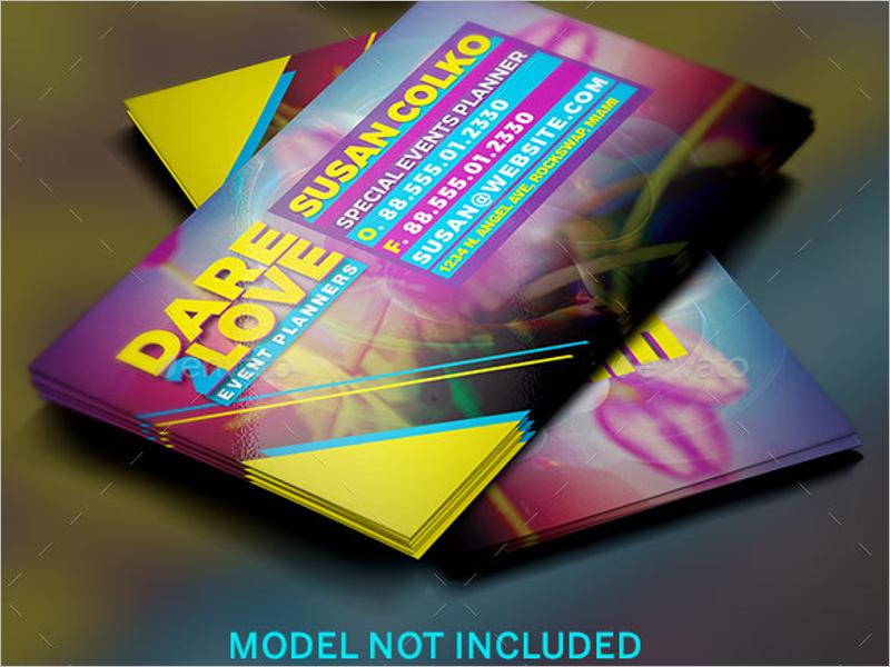 DJ Event Business Card Design