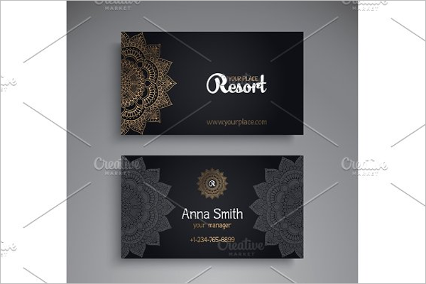 Decorative Business Card For Yoga