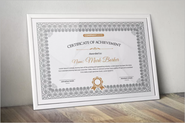 Decorative Word Certificate Template