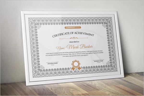 Decorative Word Certificate Template