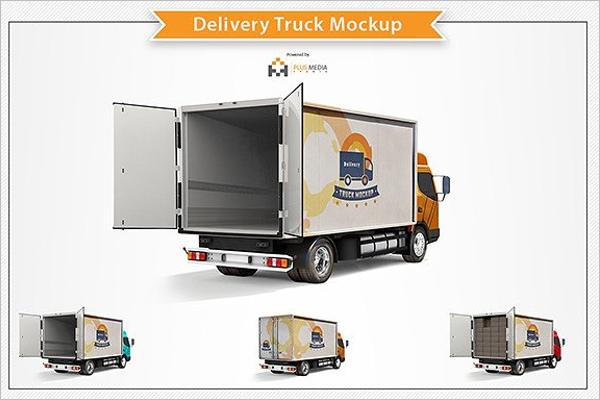 Delivery Truck Mockup Design