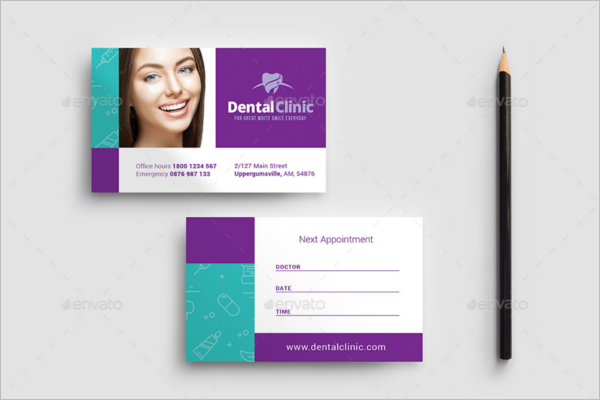 Dental Appointment Card Template