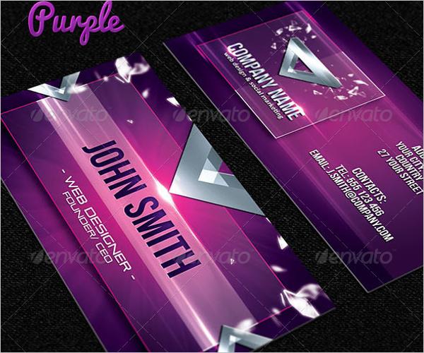 Designer Business Card Vector Template