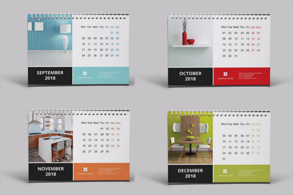 Desk Calendar Mockup Bundle Template