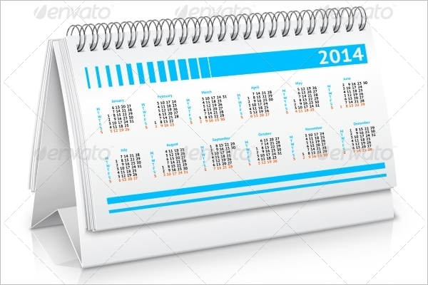 Desk Calendar Mockup Design Download