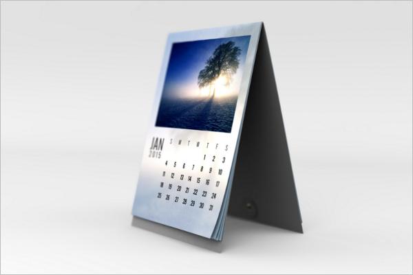Desk Calendar Mockup Free Template