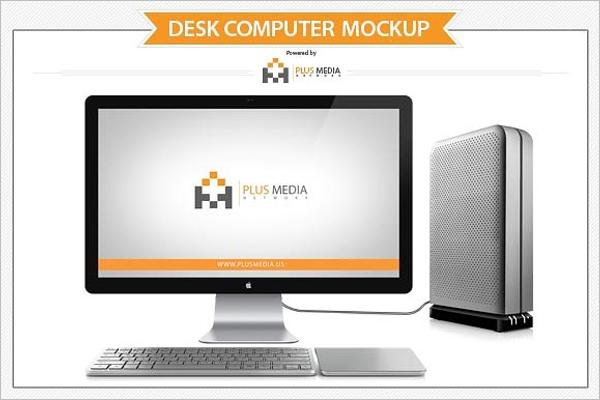Desk Computer Mockup Design