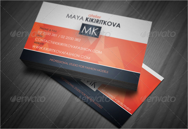 Developer Orange Business Card Template