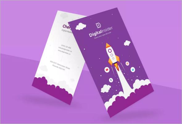 Digital Marketing Business Card Photoshop Template