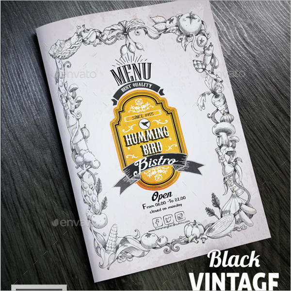 Dinner Menu Card Design